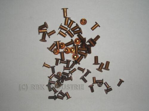 5  X 10 mm Bremsbelagnieten Rivets Nieten Niete