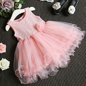 Princess-Kids-Girls-Dress-Lace-Flower-Party-Gown-Formal-Dresses-Tulle-Tutu-Dress