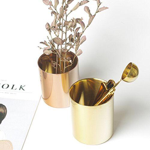 Luxus Gold Runde Metall Stifthalter Stift Pinsel Topf Durable Desktop