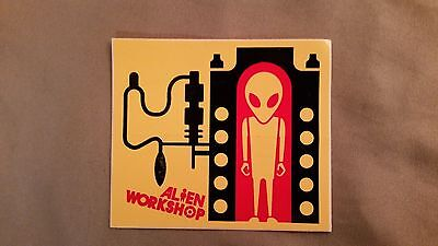 "New Alien Workshop ""Incubator"" Yellow Decal Sticker"