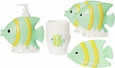 Wodlo Cute Fish Bathroom Accessories, Fish Bathroom Sets