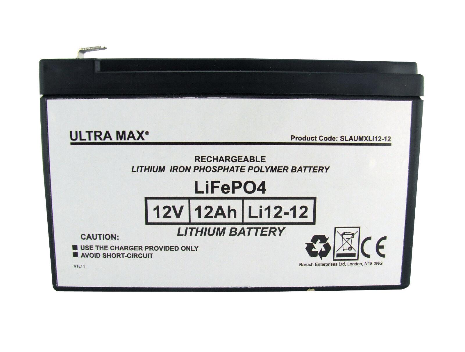 12V 12AH Li Baterrie für Feber Peg Perego B John Deere Elektrisches Spielzeug