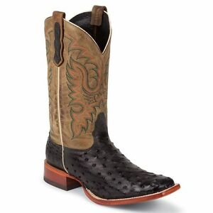 57fadd8f2f1 Details about Nocona Men's Black Full Quill Ostrich Western Cowboy Boot  Square Toe - MD6506