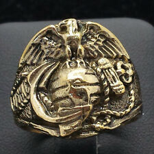 USMC Marine Corps 10K Gold Filled Mens Class Ring 9g Sz.12 CR1082