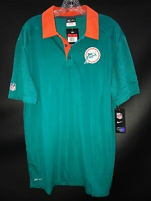 db3239f3ffa MIAMI DOLPHINS TEAM ISSUED COACHES THROWBACK POLO SHIRT BRAND NEW OLD LOGO  RARE