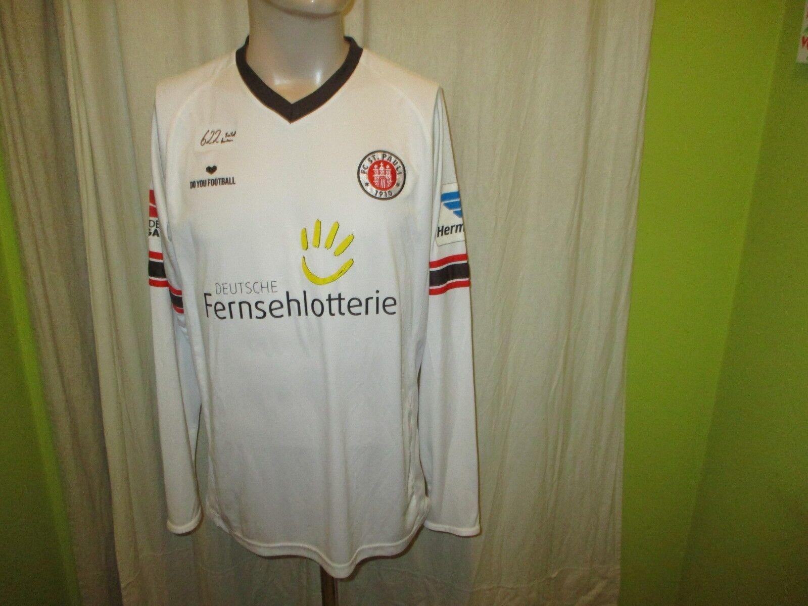 FC St.Pauli Original Langarm Matchworn Trikot 2012 2012 2012 13 + Nr.18 Thy Gr.L TOP af2940