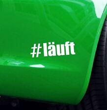 "Aufkleber Hashtag ""#läuft"" Auto Tuning Decal Stickerbomb"