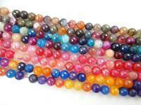 "Dragon Veins Faceted Agate  Round Jewelry Making Gem Loose beads 10mm 15"" GD-1"