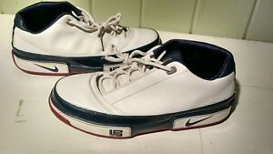 new style 76d6b 18679 Image is loading Nike-Zoom-LeBron-Low-ST-White-Blue-Red-
