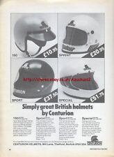 Centurion British Helmets 1979 Magazine Advert #734
