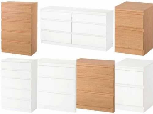 Ikea Kullen Chest of Drawers Bedroom Furniture White /& Oak Effect