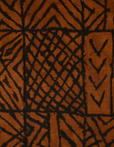 Mudcloth-Textile-Handwoven-Brown-Mali-African-Art-Collection