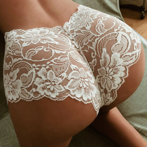 HOT Lace French Knickers Sizes 8-18 Women Briefs Pants Boy Shorts