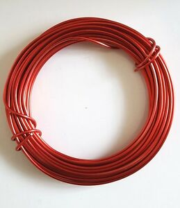 Aluminium-Craft-Wire-RED-x-1-Roll-12-mts-long-2mm-gauge-Decorative-Florist-Wire