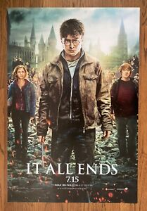 Harry Potter And The Deathly Hallows Part 2 2011 Double Sided Advance 1 Sheet Ebay
