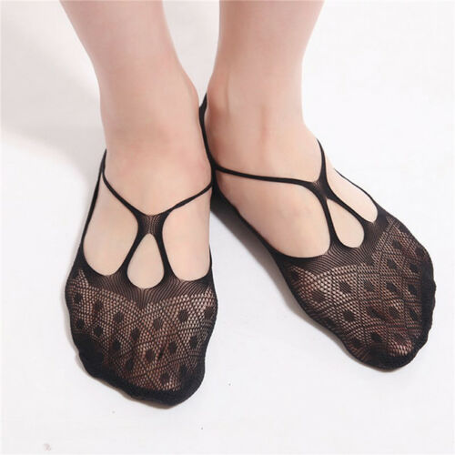 Women Invisible Ultra Thin Transparent Silk Lace Elastic Short Ankle Socks S
