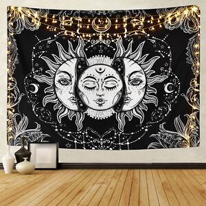 Sol y la Luna tapices desaparecerá Sun psicodélico para colgar en la pared tapiz Arte Hogar