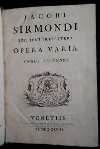 Jacobi-Sirmondi-Opera-Varia-Tomus-Secundus-Venezia-1728