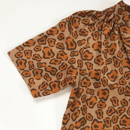 Tucker Silk Leopard Blouse Skirt Ans qvPgwq