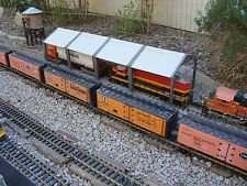 "G-scale 44"" Long Diesel Maintenance Shed Can Span 2 Tracks Fits LGB, Aristo, Etc"
