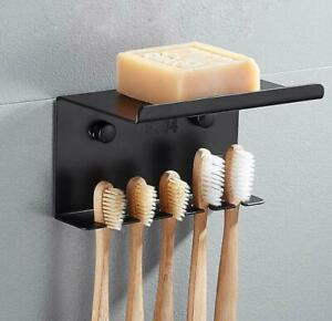 Wall-Mounted-Hanger-SUS304-Bathroom-Toothbrush-Holder-Soap-Dish-Storage-Shelf