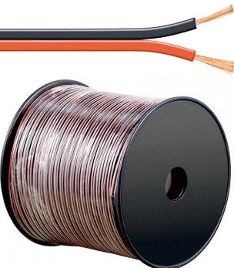 m Led Kabel Zwillingslitze 0,35mm² rot-schwarz ummantelt 2-adrig