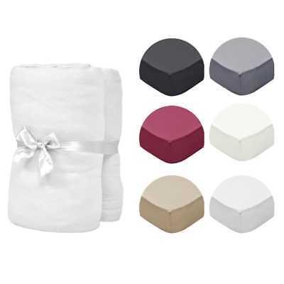 vidaXL 2x Drap-housses pour Lits à Eau Coton Chambre Multi-taille Multicolore
