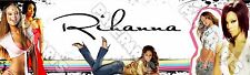 """Star Rihanna Poster Banner 30"""" x 8.5"""" Personalized Custom Name Printing for Kids"""