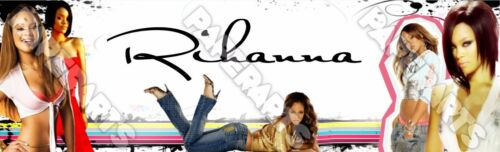 """Star Rihanna Poster Banner 30/"""" x 8.5/"""" Personalized Custom Name Printing for Kids"""