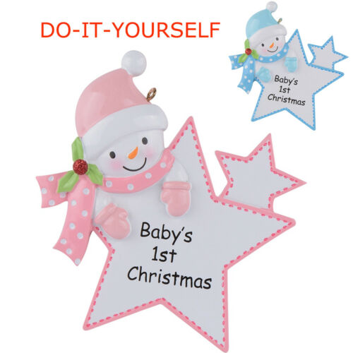 Baby/'s 1st Christmas Personalized Ornament Baby Girl//Boy Star Christmas Gift