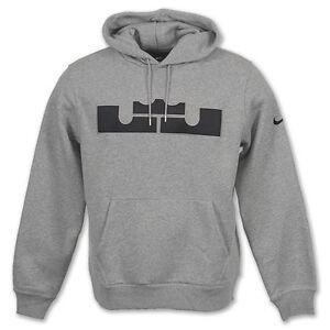 Nike-Men-039-s-Brand-New-LeBron-Fleece-Pull-Over-Hoodie-465186-063-Size-M