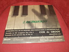 LP RACHMANINOV CONCERTO NO2 IN DO MINORE FOR PIANO E ORCHESTRA COR DE GROOT