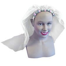 WEDDING VEIL MARRIAGE HEN PARTY STAG FANCY DRESS BRIDE COSTUME