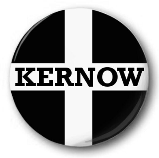 "Cornwall Kernow Flag 25mm 1"" Button Badge Saint Piran's Cross"