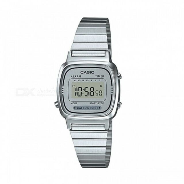 7eb8bfa482f3 Casio La670wea-7ef Ladies Silver Retro Digital Watch for sale online ...