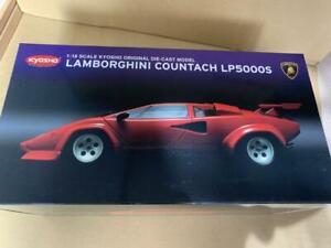 Kyosho-Lamborghini-Countach-LP5000S-Rojo-No-08322RR-1-18-Escala-Modelo-De-Fundicion