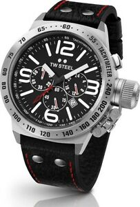 TW-Steel-Watch-TW78R-Canteen-Black-Leather-45MM-Chronograph-COD-PayPal