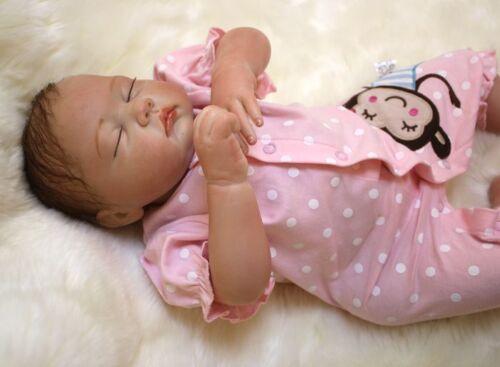 "49cm//20"" Handmade Newborn doll Reborn Baby Girl Lifelike Vinyl silicone gift New"