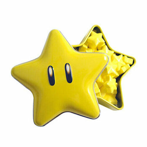New Novelty Candy Candy Tin Super Mario SUPER STAR Boston America