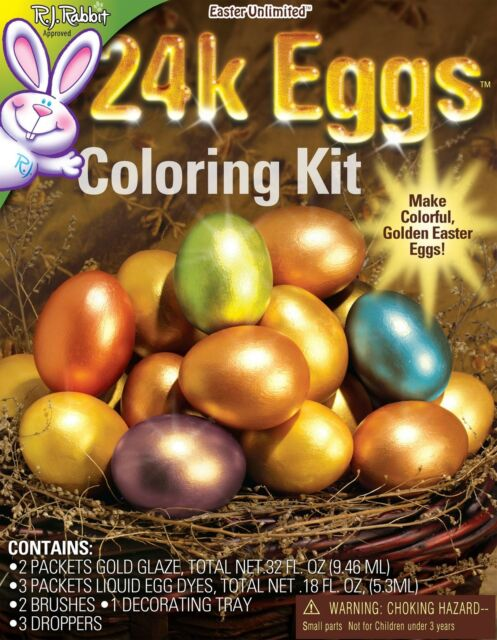 Rabbit Approved Easter Unlimited 24K Eggs Coloring Kit New /& Sealed R.J