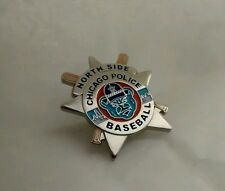 Chicago Police Baseball Cubs Badge Lapel Tie Pin