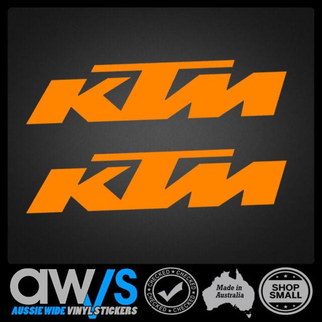 Ktm sticker decal x2 for motocross car mx racing window banner trailer
