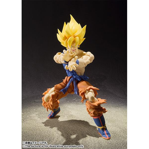 Bandai S.H.Figuart Dragon Ball Z Super Saiyan Son Goku Warrior Awakening Version