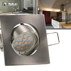 led einbaustrahler eckig 12v 2w 25w warmwei extra flach 45mm 1 25er set petit ebay. Black Bedroom Furniture Sets. Home Design Ideas