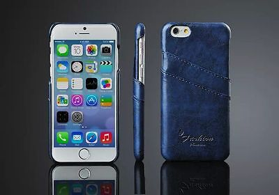 Luxury PU Leather Skin With Card Holder Back Cover Case for iPhone 5 5s 6 Plus