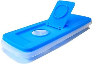 Easy-Fill-Ice-Cube-Tray-Blue-Ice-Mould-Mold-12-x-3cm-cubes-Stackable-BPA-free