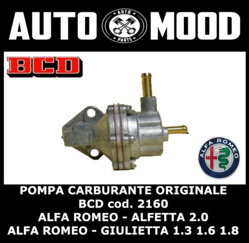 POMPA CARBURANTE FUEL PUMP ORIGINALE BCD 2160 ALFA ROMEO ALFETTA 2.0 GIUELIETTA
