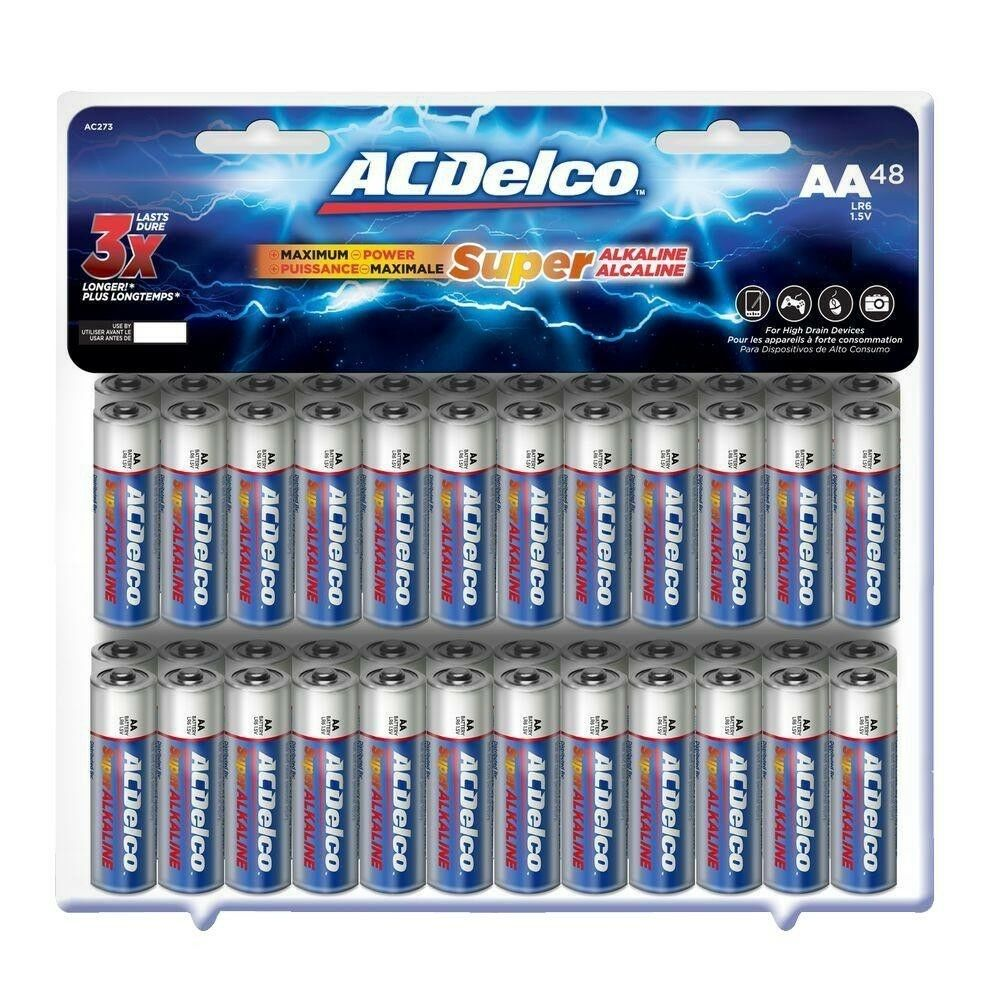 Super Alkaline AA Battery (48-Pack) , Ideal For High-dr
