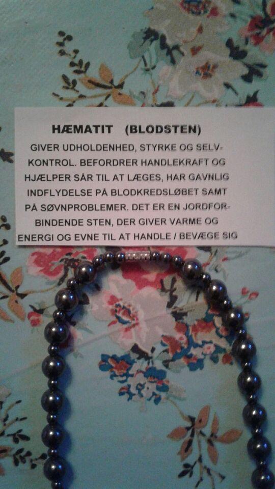 Halskæde, blodsten, Hæmatit