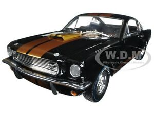 1966 shelby mustang gt 350 hertz black/gold 1/18 shelby collectibles
